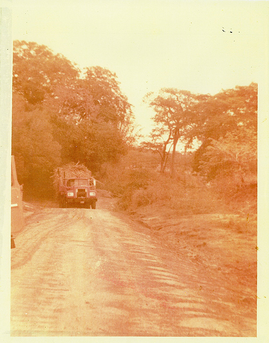 """Primer camión de CATSA por Camino antiguo por """"La sección de la mata de yuca"""""""
